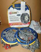 Les Schwab Quick Fit Sport Lt Tire Snow Chains, Stock 2324-s, Used