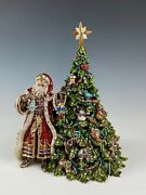 Jay Strongwater Santa St. Nicholas And Christmas Tree Music Box Limited Edition