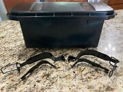 Mercedes 380sl Trunk Battery Box Tray, Cover Lid, And Straps Assembly R107 C107