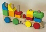 Melissa And Doug Wooden Stacking Train Block Set Of 2 Trains 13 Stacker Pieces