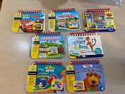 Leap Frog My First Leap Pad Lot Of 7 Flip Books And Cartridges