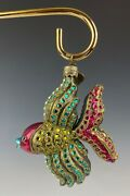 Jay Strongwater Ornament Kalina Fish Crystals Mint In Box