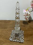 Vintage Czech Crystal Perfume Bottle Rare Collectible