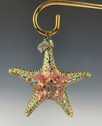 Jay Strongwater Starfish Ornament Crystals Mint In Original Box