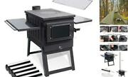 Camp Tent Stove, Portable Wood Stove For Tent With Large Firebox, Include