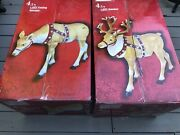 Sold Out Home Accents Holiday Led Reindeer Christmas Yard Set