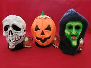 Halloween Iii 3 Season Of The Witch Don Post Mask Set Of 3 Silver Shamrock 2012