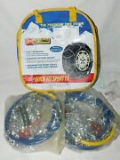 Les Schwab Quick Fit Sport Lt Tire Snow Chains, Stock 2327-s, Never Used