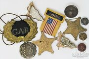 Genuine Civil War Grand Army Of The Republic Asst 1861 Medals Cannon Ball 21007