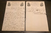 Smith Brothers Cough Drops William W. Smith Signed Autograph Letter 1891