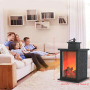 Portable Electric Fireplace Light Hung Simulated Flame Lamp Living/dining Room