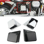 Motorcycle Chrome Side Battery Cover Guard For Honda Shadow Spirit Vt750 2000-09