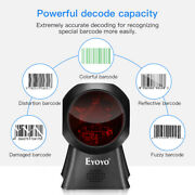 Automatic Eyoyo 1d Barcode Scanner Omnidirectional Usb Wired Barcode Reader