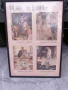 Ww Ii Ww2 Original War Bond Norman Rockwell Poster Ours...to Fight For X 4