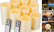 Flameless Candles Water Resistance Pack Of 9 D 3 X H 445556666
