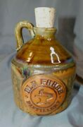 Pigeon River Pottery Old Forge Distillery Wiskey Jug Drip Glazed 6 3/8 Tall