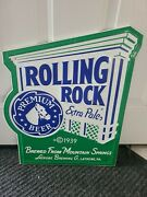 Vtg.rolling Rock Extra Pale1992 Beer Adv. Bar Sign 19.25 X 15.5 Horse Head