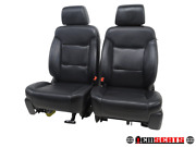Chevy Silverado Crew Cab Front And Rear Leather Seats 2014 2015 2016 2017 2018 And039