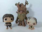 Funko Pop Lord Of The Rings Lot - Baggins, Gollum And Treebeard Out Of Box