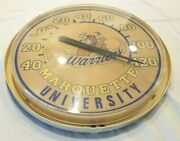 Vintage Marquette Warriors University Advertising Thermometer