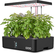 12pods Hydroponics Growing System Indoor Herb Garden With Grow Light Plants