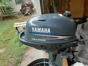 2008 Yamaha Short-shaft 4hp 4cycle Outboard Tank Hose Spare Prop And Manual