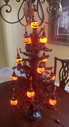 Christopher Radko Shiny Brite Halloween Bubbling Brite Tree Boxed Works Tested