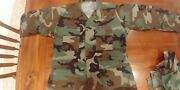 Us Army/air Force Coat Woodland Camouflage Combat Pattern Large Reg Af Patches
