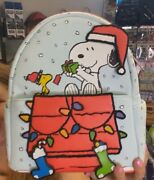 Loungefly Snoopy Christmas Holiday Mini Backpack On Hand Free Shipping