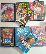 Sega Genesis Game Box Only Lot Of 6 Rings Of Power Uncharted Waters 007
