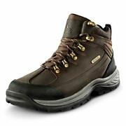Nortiv 8 Menand039s Leather Waterproof Hiking Boots Mid Ankle Trekking Mountaineer...