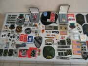 Large Set / Lot Military Pins Medals Bars Buttons Patches Army Unit Vintage 4