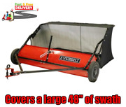 Lawn Leaf Sweeper Tractor Tow Behind Grass Catcher Rust-ressitant 48 15 Cu. Ft.