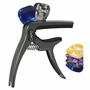 Guitar Capo For Acoustic Electric Guitars With Pin Puller Pick Holder And 4 P...
