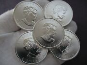 Lot Of 5 - 1oz .9999 Fine Silver 2013 Canadian 5 Coins Canada Maple Leaf