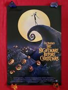 The Nightmare Before Christmas 1993 Original Movie Poster Ds 27x40 Halloween Nm