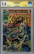 Marvel Spotlight 29 Cgc 7.5 Ss Signed By Stan Lee