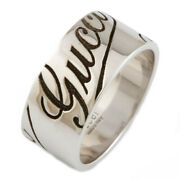 Ring White Gold Icon Prints Ring Wide Us Size 7.5-8 Auth