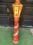 Vintage Empire Christmas Candle Lamp Post Blow Mold 1960's Lot B