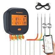 Bbq Smoker Inkbird Wifi Thermometer Food Remote Control Temp Gauge Rechargeable