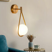 Modern Glass Wall Lamp Nordic Led Wall Sconce Light Fixtures Industrial Decor Us
