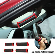 Leather Top Roll Bar Grab Handle Grip Protector Cover For Ford F-150 2015+ 4pcs