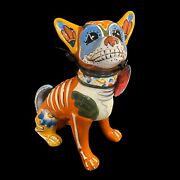 """Blue Sky Heather Goldminc Halloween Chihuahua Dog Day Of The Dead 7.5"""" Tall New"""