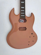 Glossy Finish Double Cutaway Guitar Body With Maple Neck Fit Sg