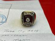 1983 Nc State Wolfpack National Championship Ring Ed Mclean 10k Gold Jostens