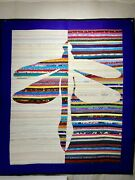 Contemporary One Of A Kind Dragonfly Quilt Wall Hanging Art