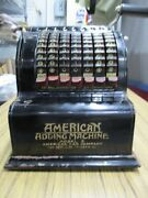 Antique American Adding Machine Model 5 American Can Co -nice Condition