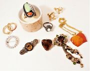 Estate Antique To Vintage High End Jewelry Lot 1890-1980 Sterling 9k Gold And Gf
