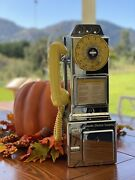 Automatic Electric Company Chrome And Yellow Art Pop Payphone Original Telephone
