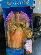 14 Gold Dress Angel Tree Topper Christmas Fiber Optic Continuously Change Color